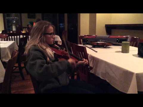 Trad Youth Exchange fiddles and bodhran session at Harrington's