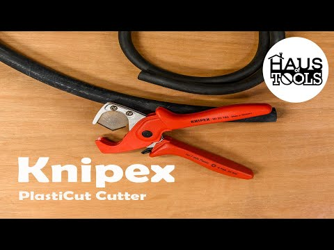 Knipex 90 20 185 PlastiCut Cutter For Flexible Hoses And Plastic Tubes