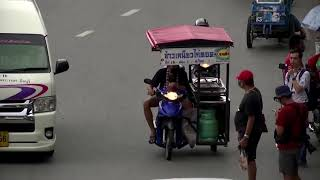 Thai street vendors are first on protest scene