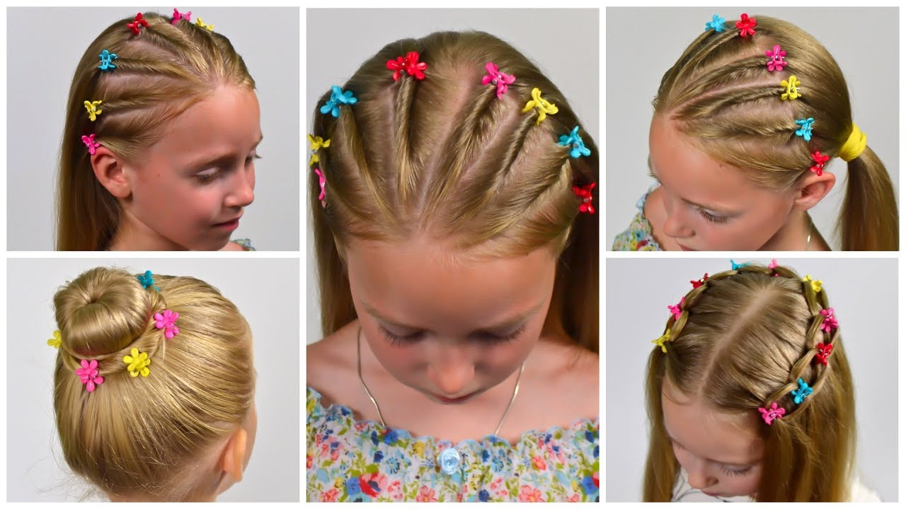 4 Easy No Braids Boddy Pins Heatless Back To School Hairstyles Little Girls Hairstyles 26 Lgh