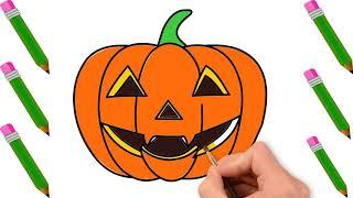 Vẽ Quả Bí Ngô Halloween - Tranh Tô Màu Chủ Đề Lễ Hội Halloween