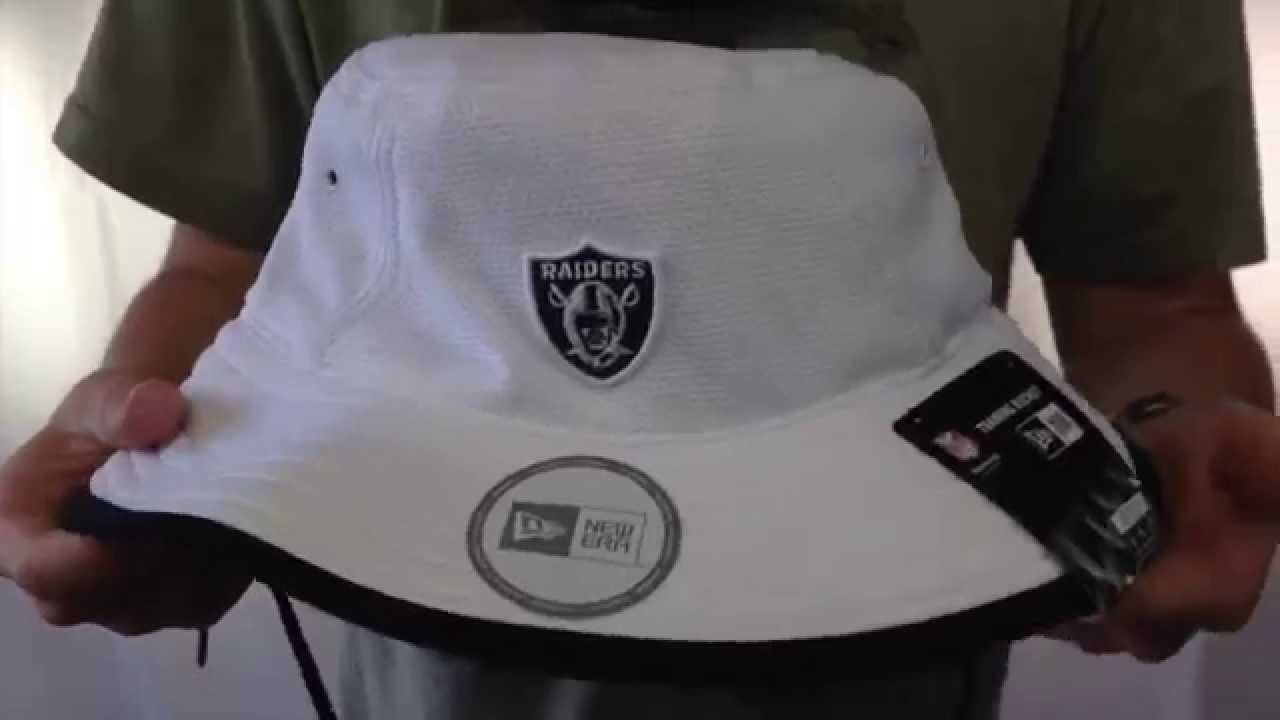 d039f6b48027a Raiders  2014 NFL TRAINING BUCKET  White Hat by New Era - YouTube
