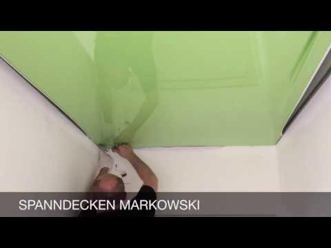 holzdecken mit spanndecken renovieren montagevideo ra. Black Bedroom Furniture Sets. Home Design Ideas