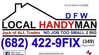 2 of 2 Local Handyman Service DFW Texture Drywall Make Ready Ceilings Walls Farmers Branch