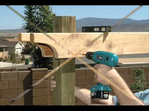 How To Build A Pergola Step By Step Youtube