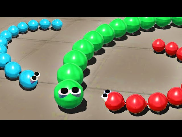 SLITHER.IO IN 3D GAME! (Simple Planes)