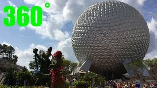 EPCOT Entrance 360˚ INTERACTIVE Walk Around HD Walt Disney World