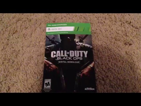 Free full call of duty game free put in code to Xbox to win it