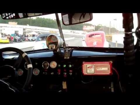 Bill Blair at South Boston Speedway   in car camera   7 30 16
