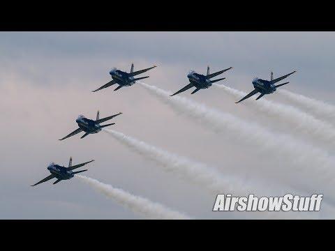 US Navy Blue Angels Arrival - EAA AirVenture Oshkosh 2017