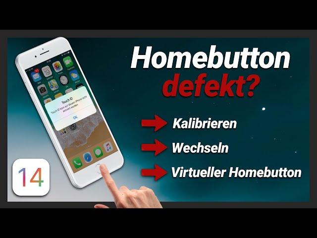 iPhone Home Button defekt? Homebutton wechseln, kalibrieren oder virtueller Home Button aktivieren!