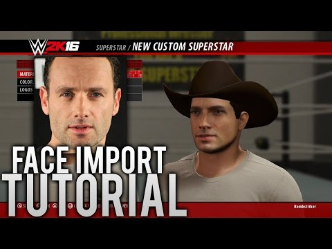 WWE 2K16 - How to Import Your Face Photo