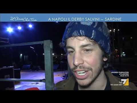 A Napoli il derby Salvini-sardine