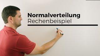 Normalverteilung, Rechenbeispiel, Stochastik, Statistik, Mathe by Daniel Jung