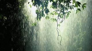 Avkopplande regn och åska, regn ljud, djup sömn, avslappning, Meditation