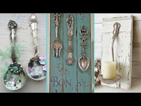 ❤ DIY Shabby chic style Silverware decor Ideas ❤   Spoon & Fork decor Ideas   Flamingo Mango 