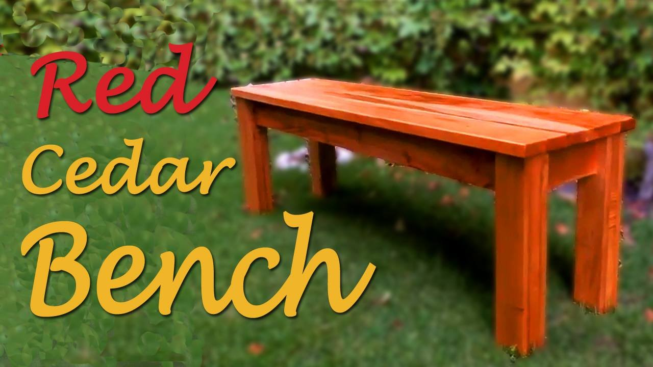Making A Red Cedar Bench Ep 003 Youtube