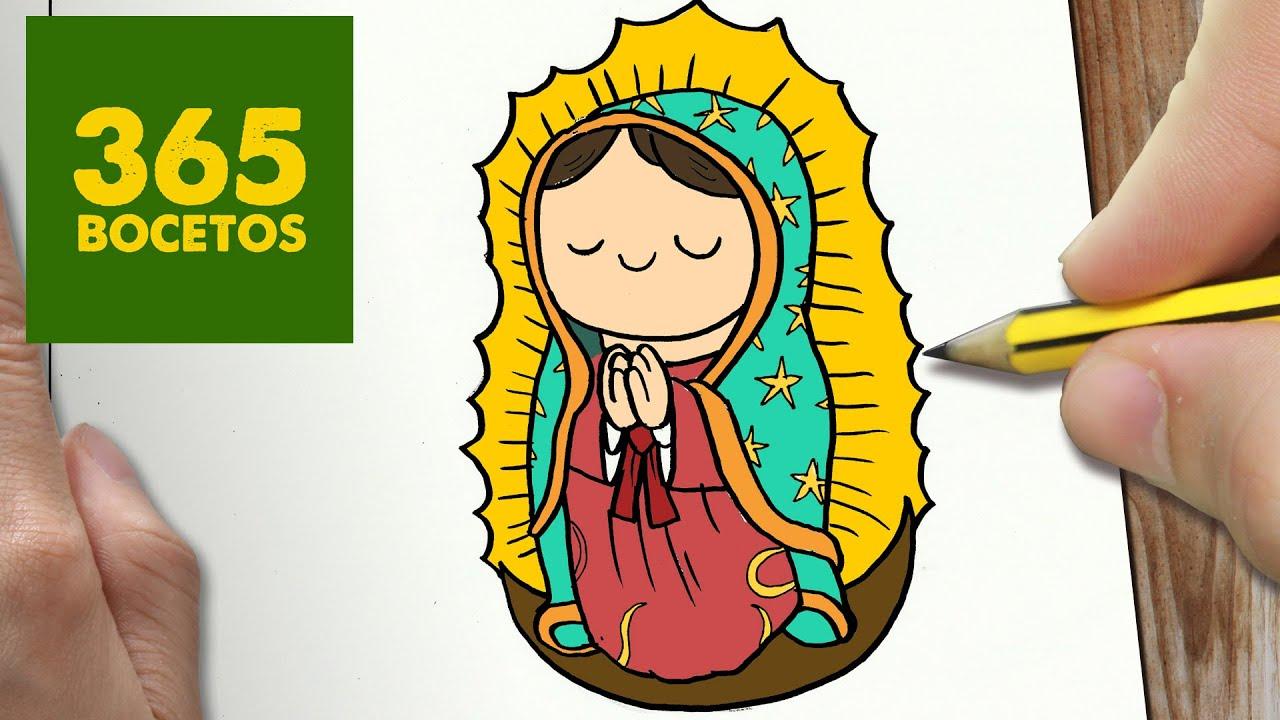 Como Dibujar Virgen De Guadalupe Kawaii Paso A Paso Dibujos Kawaii Faciles Draw Guadalupe