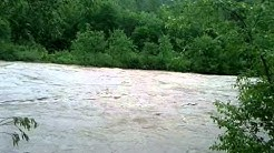 Hochwasser, Bad Reichenhall, Saalach, Dammweg, Höhe Aral Tankstelle 02.06.2013 16:49h