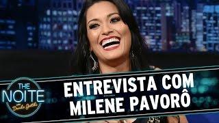 The Noite (25/03/15) - Danilo entrevista Milene Pavorô