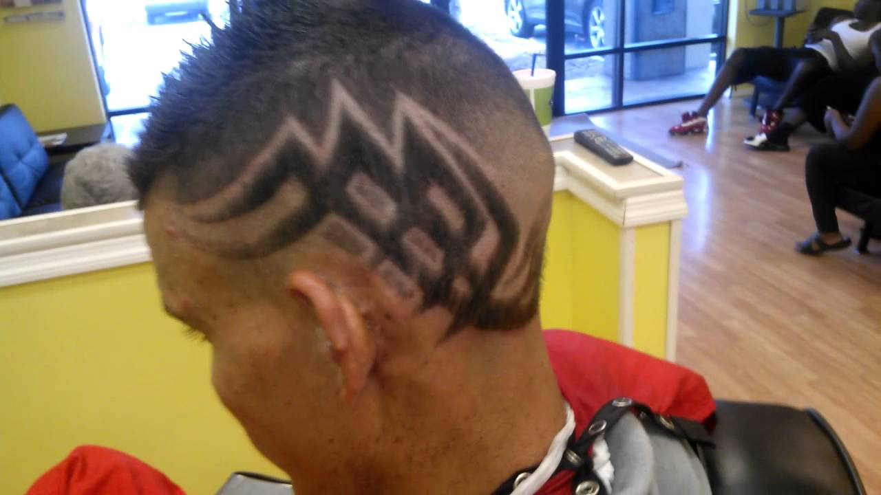 Tribal haircut fade - YouTube
