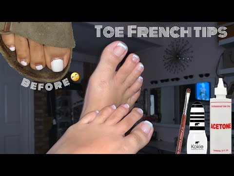 Toes French Tip| Watch Me Do My Toes | Toe's Polish