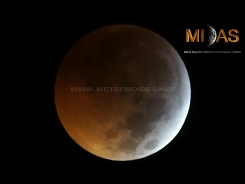 כך נראית פגיעת מטאוריט בירח בליקוי הירח