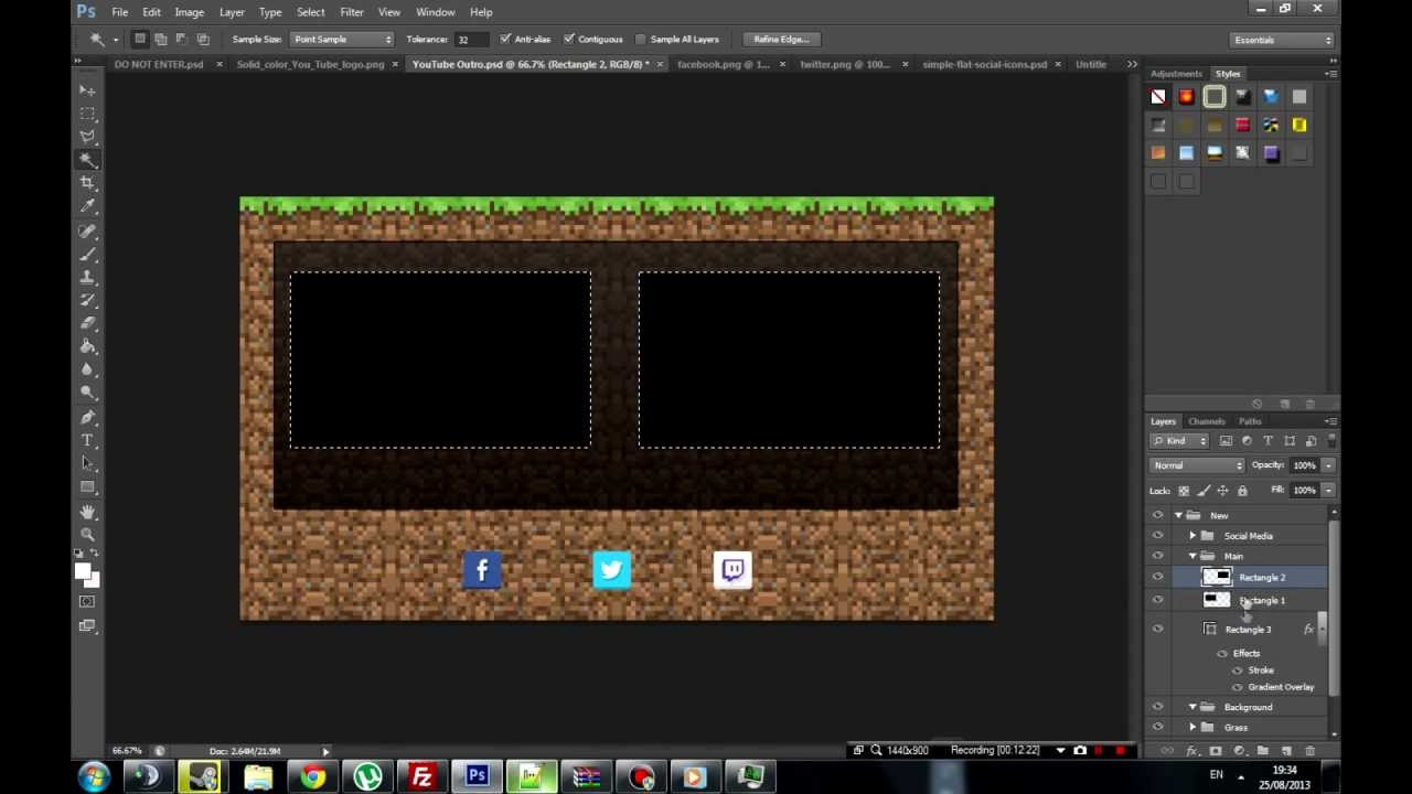 minecraft outro template movie maker - free minecraft outro screen template youtube