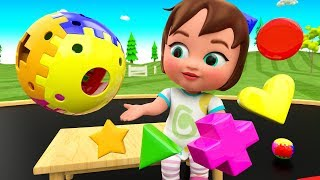 Little Baby Fun Play Learning Shapes for Children with Color Shapes Toys Set 3D Kids Educational
