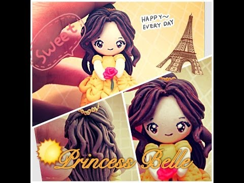 "clay-tutorial:-princess-belle-from-""beauty-and-the-beast"""