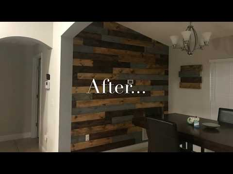 DIY-How To Install Wood Plank Wall