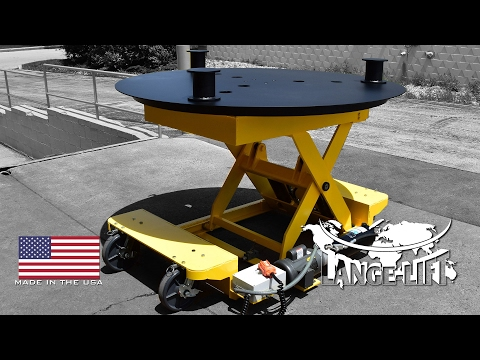 Rotating Deck Scissor Lift with Removable Stand Offs | 6,000 Pound Capacity