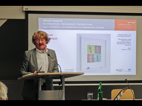 Werner Gephart: Aesthetics of Law, Legal Kitsch and Iniquity of Spheres