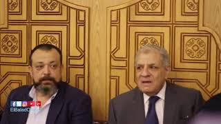 عادل إمام ومحلب في عزاء زوجة محمد عبد المنعم .. فيديو و صور