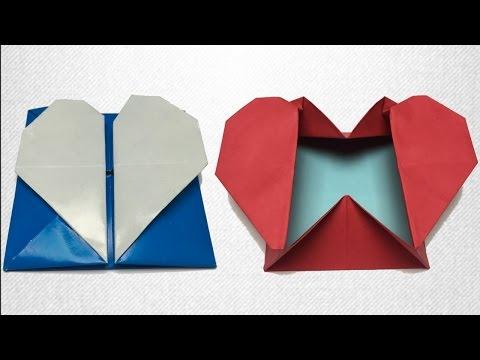 Kalp Kutu / Hediye Paketi / Origami