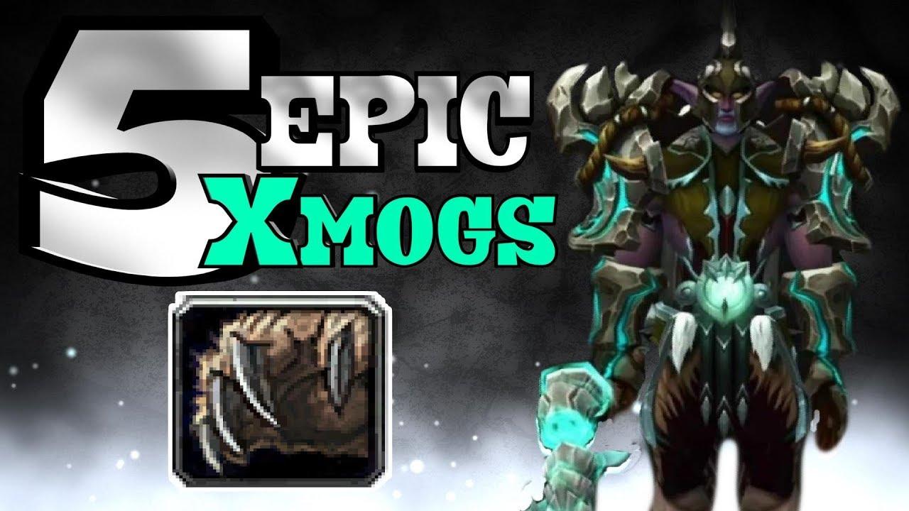 World Of Warcraft Bfa 5 Epic Druid Xmog Sets Youtube
