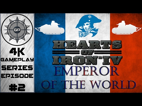 The French Empire Vs. The United States - Hearts of Iron IV Emperor of the World Mod 4K Series #2
