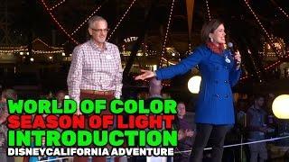 World of Color: Season of Light intro with Imagineer Steve Davison at Disney California Adventure