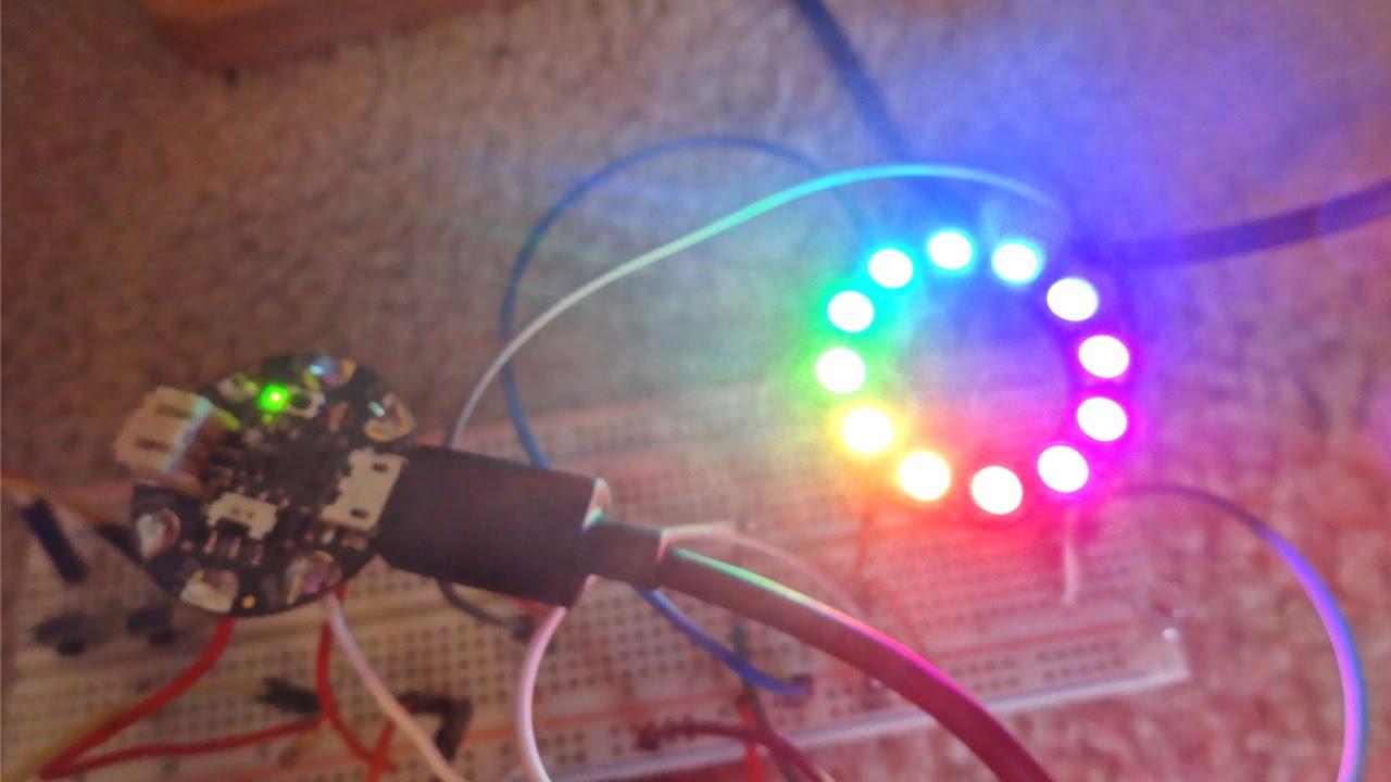 Adafruit Neopixel Ring + Arduino Gemma Tutorial