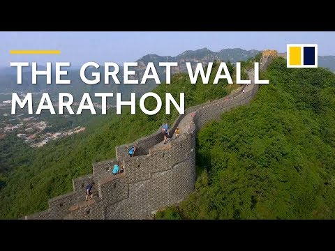 Athletes take on the challenging Great Wall Marathon in China