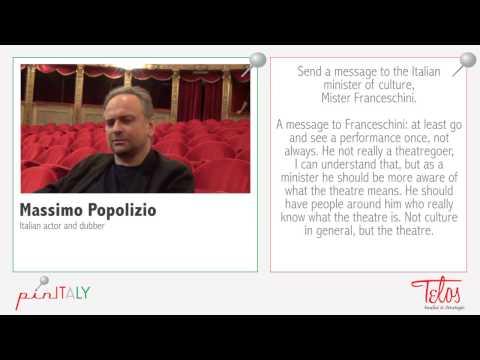 Massimo Popolizio per pinITALY. Un messaggio al ministro Franceschini