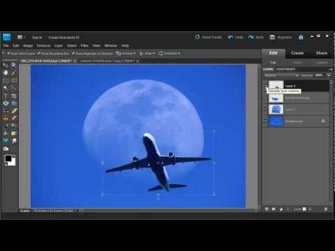 Photoshop Layers Tutorial How-to Video for Superimposing Images