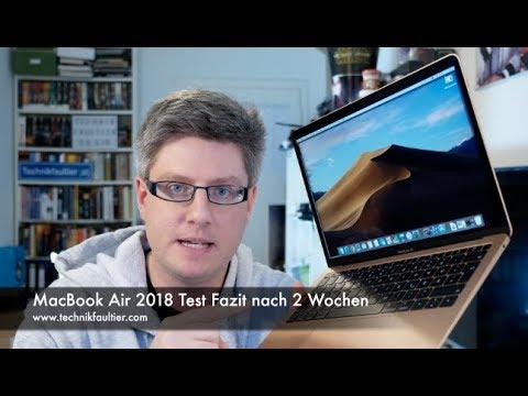 Macbook Air 2018 Test Fazit Nach 2 Wochen Youtube