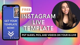 ✅Instagram LIVE Template 🆕Use photos and slides during your IG LIVE | FREE CANVA IG LIVE TEMPLATE