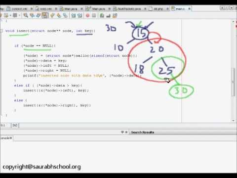 Programming Interview:Data Structures Algorithm: Insertion in Binary Search  Tree