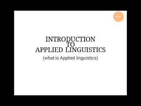 Introduction to applied linguistics (Definition)