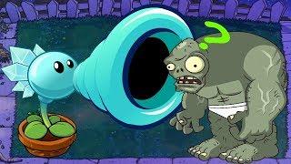 1 Snow Pea vs 1 Gargantuar - Plants vs Zombies Minigames Zombotany 2
