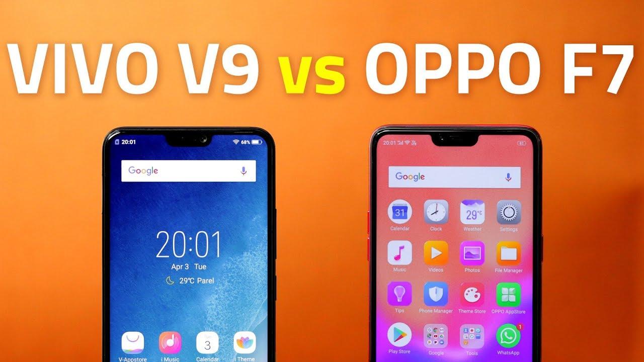 Vivo V9 vs Oppo F7 🔥 Camera, Performance, Battery, and More Compared