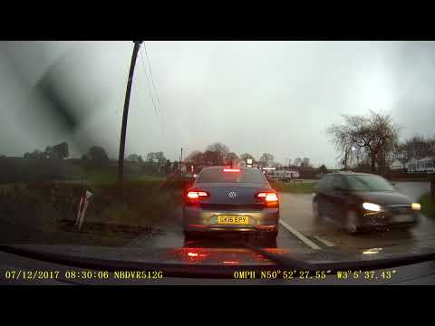 7/12/17 Dashcam footage dangerous driving A303 Yarcombe, Audi A5 please identify