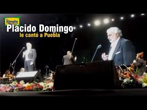 Plácido Domingo le cantó a Puebla LIVE VIDEO